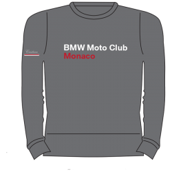 BMW MOTO CLUB MONACO FELPA GIROCOLO