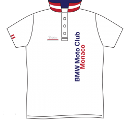 BMW MOTO CLUB MONACO POLO RED STRIPES