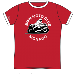 BMW MOTO CLUB MONACO T-SHIRT VINTAGE RED