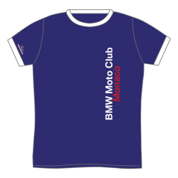 BMW MOTO CLUB MONACO T-SHIRT WHITE-COLLAR BLUE