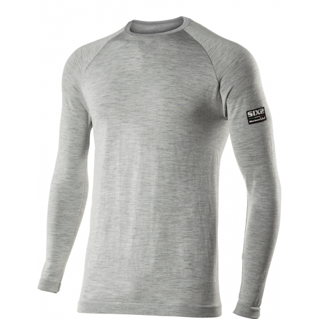 SIXS - TS2 – Long-sleeve Round Neck Carbon Merinos Wool Jersey ... 20d8e0910