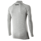 TS3 - Maillot col montant manches longues Carbon Merinos Wool