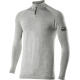 TS13 – Lupetto con zip maniche lunghe Carbon Merinos Wool