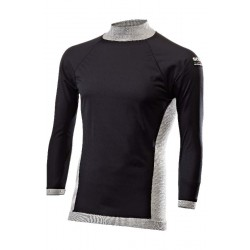 LONG SLEEVE MOCK TURTLENECK JERSEY WINDSHELL MERINOS WOOL
