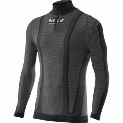 TS13W - T-Shirt Col Montant Zippé Manches Longues Thermo